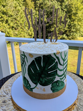 Tropical Leaf Painted Cake.jpg