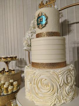 3-Tier Textured Buttercream Wedding Cake