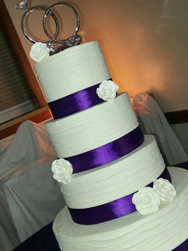 4 Tier Purple Ribbon Wedding Cake-2.jpeg