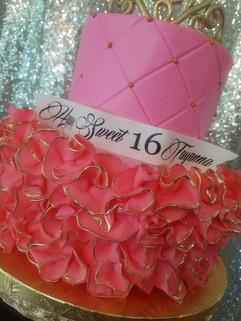 Pink Ruffle Sweet 16 Cake-3.jpg