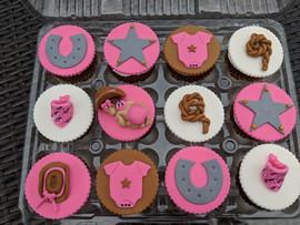 Pink-Baby Girl Western Theme Cupcakes.jp