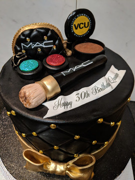 Black and Gold M.A.C. Inspired Cake-2.jp