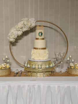 3-Tier Textured Buttercream Wedding Cake