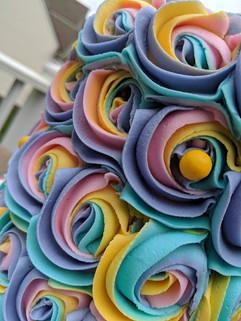 Unicorn Inspired Rainbow Rosette Cake-2.