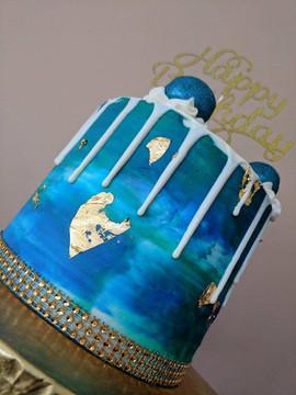 Peacoock Water Color Drip Cake3.jpg