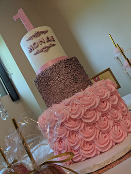 Rose Gold 1st Year Cake.jpg