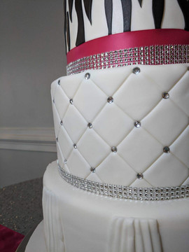 4-Tier Zebra and Fuschia Wedding Cake2.j