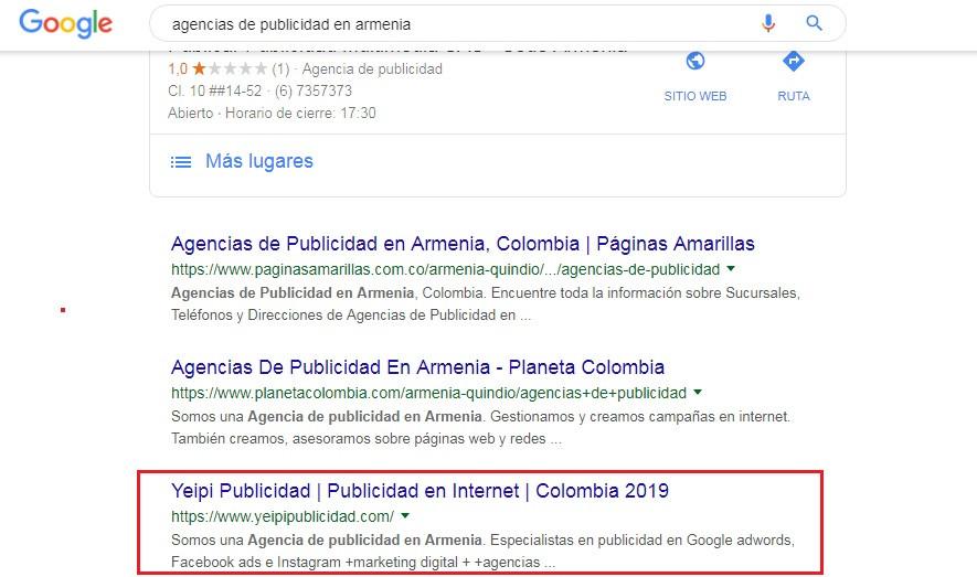 búsquedas de agencias de publicidad en armenia en Google