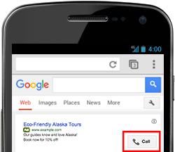 extensiones de llamada Google Adwords