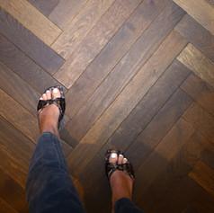 Herringbone wood floor miami