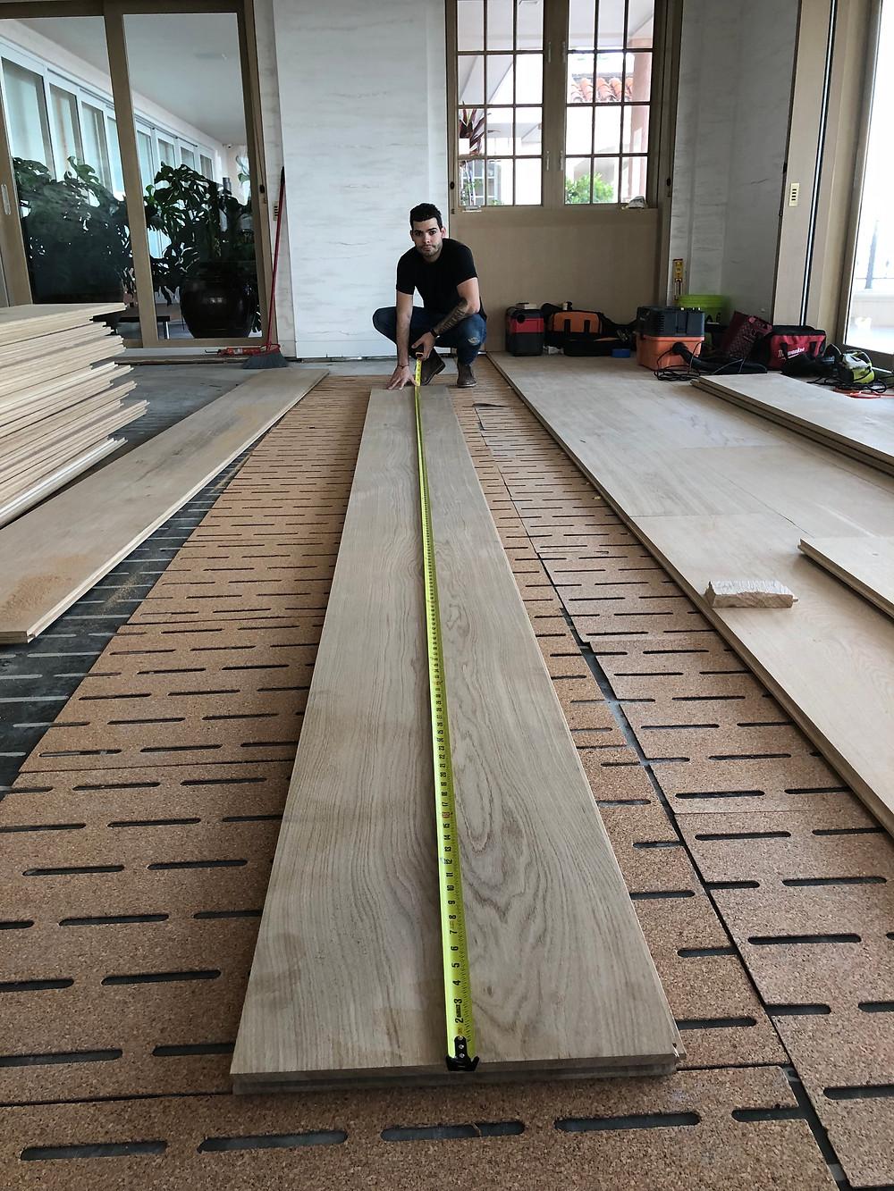 White oak wood floor installers, White oak hardwood flooring installation process