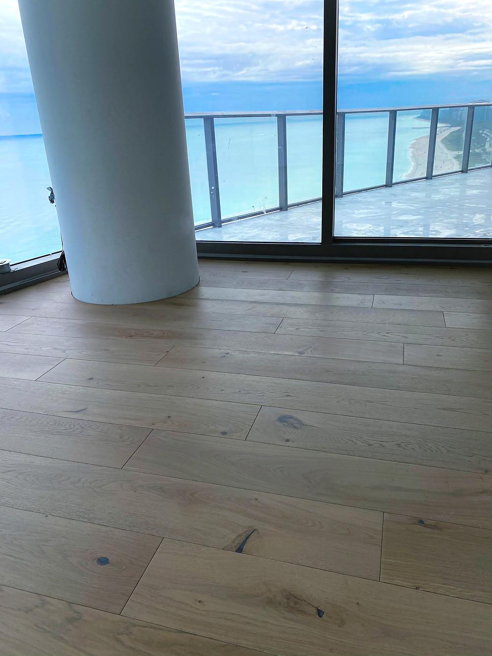 Beach house natural hardwood flooring miami