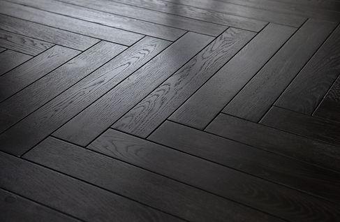 Black Parquet flooring, beautiful looking black wood flooring in Miami