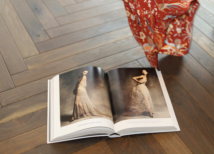 book on floor