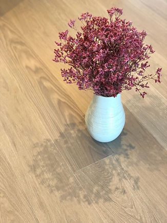 flower arrangement on floor