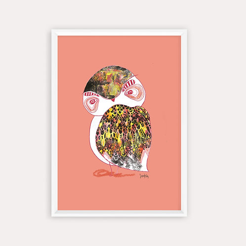 """Framed Print """"Ambitious Red Owl"""""""