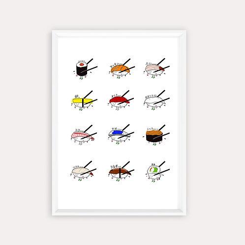"""Framed Print """"Sushi Platter"""""""