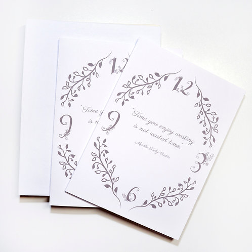 """Card Set """"Floral Quote"""""""
