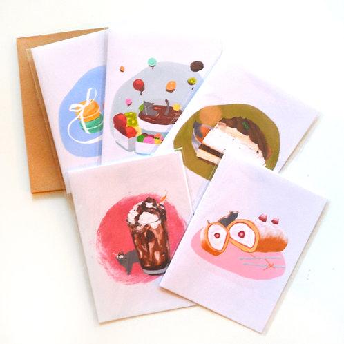 "Card Set ""Sweet Life"""