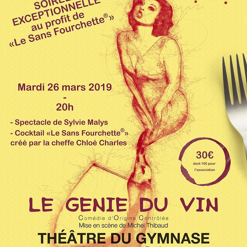"""LE GENIE  DU VIN  Soirée spectacle de Sylvie Malys Cocktail """"Le Sans Fourchette®"""" par la Cheffe Chloé Charles"""