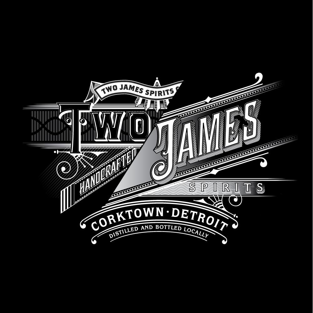 Two James Reverse Logo (Black)