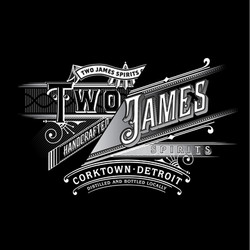 Two James Reverse Logo (Black)