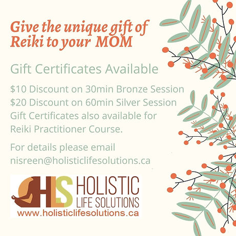 Give the unique gift of Reiki to your MO