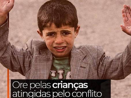 Ore pelas crianças atingidas pela guerra Palestina x Israel