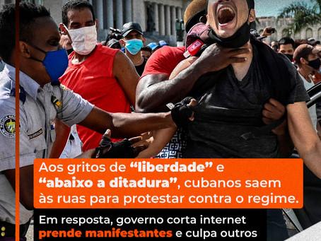 """""""Abaixo a ditadura"""" em Cuba!"""