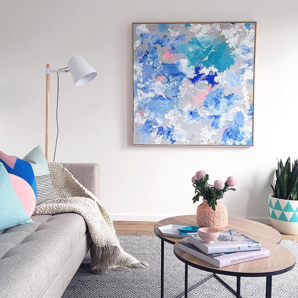 'Pink Snapper 2' by Katie Mckinnon. Styling by Michelle Hart of Bask Interiors. Photography: Suzi Appel.