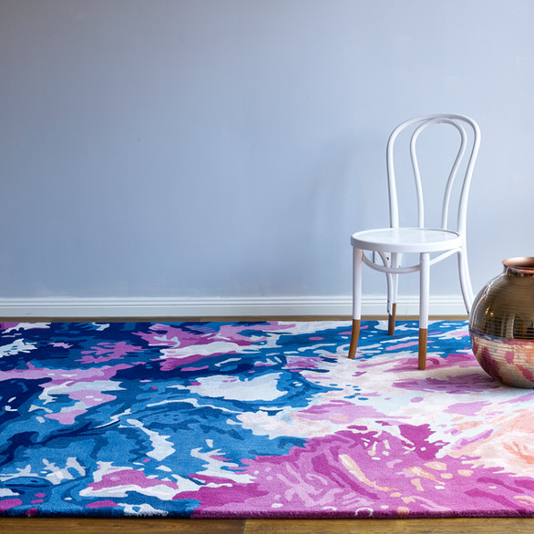 Katie McKinnon - Parrotfish & Coral design for The Rug Collection.