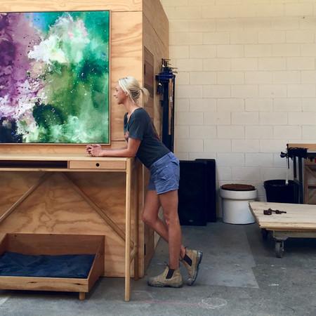 Katie McKinnon in her Melbourne studio and gallery