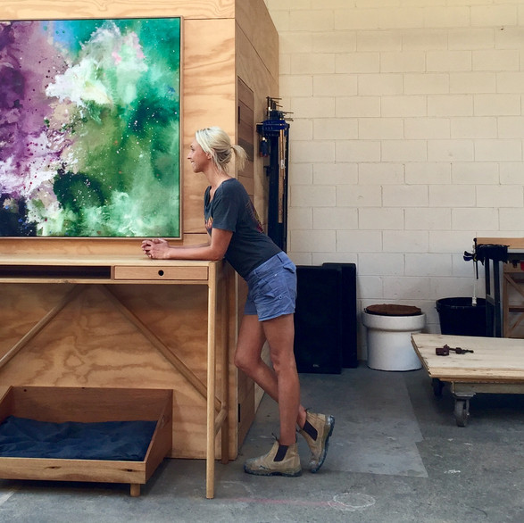 Katie McKinnon in her Melbourne studio and gallery