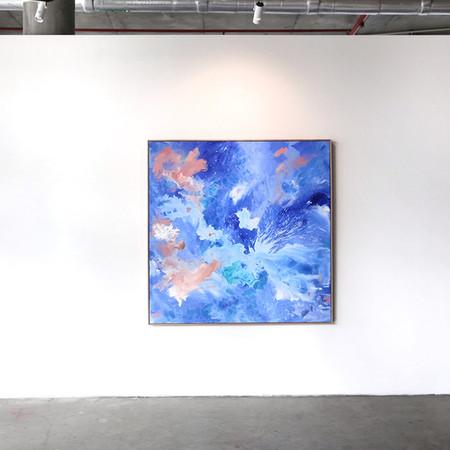 Installation view: @Friendinfashion X painting by Katie McKinnon, Lorimer Gallery. Photography Katie Fergus.