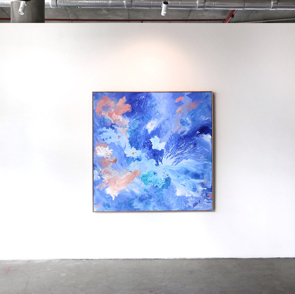 Installation view: @Friendinfashion X painting by Katie McKinnon, Lorimer Gallery. Photography Katie Fergus.