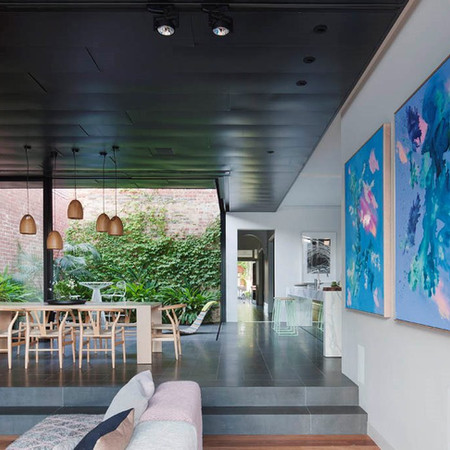 'Lunar Wrasse' paintings installed in #AbstractHouse architecture and interiors by Matt Gibson A+D. Photography: Shannon McGrath.