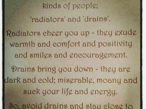 Do You Radiate or Drain?