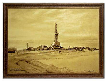 Рама для картины нефтью.