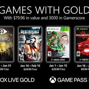 Games with Gold | Revelado jogos disponíveis em janeiro de 2021