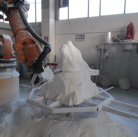 scultura testa lupo mannaro