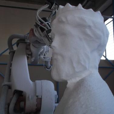 scultura testa poseidon