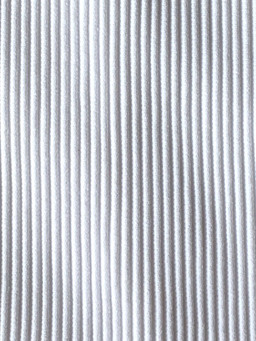 WHITE RIBBED