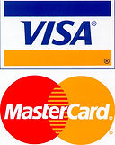 visa and mastercard payments accepted