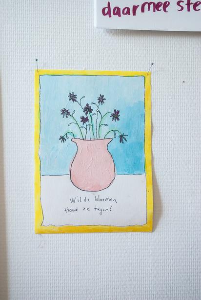 Wilde bloemen in toom