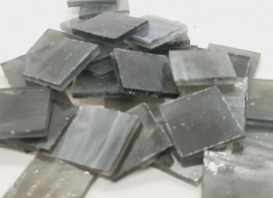Stained Glass Squares 20x20x3mm - Winter Grey