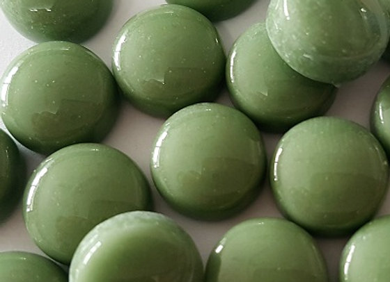 Glass Smarties Plain 12mm - Olive