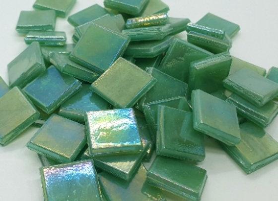 Iridised Tiles - 15x15mm - Green