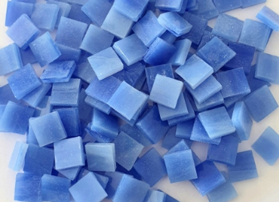 Stained Glass Opaque Squares - 10x10mm - French Blue
