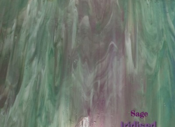 Stained Glass Sheet - Iridised  Sage Green
