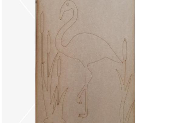Engraved Flirty Flamingo Board